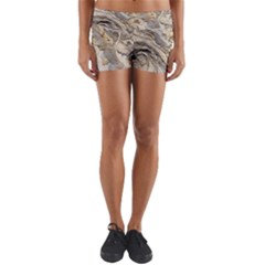 Background Structure Abstract Grain Marble Texture Yoga Shorts