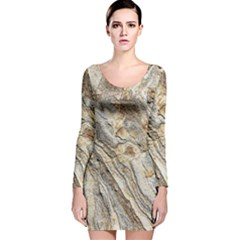 Background Structure Abstract Grain Marble Texture Long Sleeve Velvet Bodycon Dress