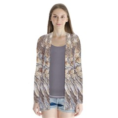 Background Structure Abstract Grain Marble Texture Drape Collar Cardigan