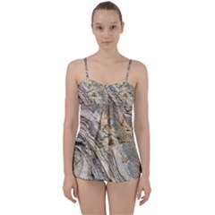 Background Structure Abstract Grain Marble Texture Babydoll Tankini Set