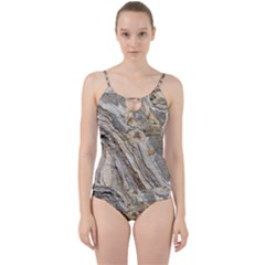 Background Structure Abstract Grain Marble Texture Cut Out Top Tankini Set