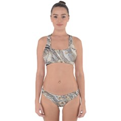 Background Structure Abstract Grain Marble Texture Cross Back Hipster Bikini Set