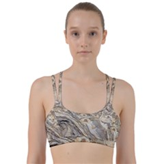 Background Structure Abstract Grain Marble Texture Line Them Up Sports Bra