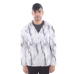 Marble Granite Pattern And Texture Hooded Wind Breaker (men)