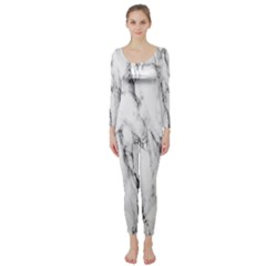 Marble Granite Pattern And Texture Long Sleeve Catsuit