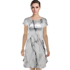Marble Granite Pattern And Texture Cap Sleeve Nightdress