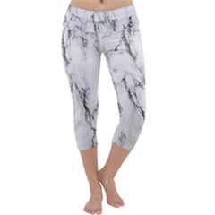 Marble Granite Pattern And Texture Capri Yoga Leggings