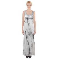Marble Granite Pattern And Texture Maxi Thigh Split Dress