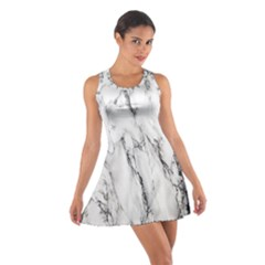 Marble Granite Pattern And Texture Cotton Racerback Dress