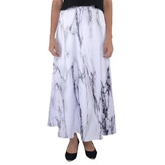 Marble Granite Pattern And Texture Flared Maxi Skirt