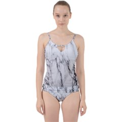 Marble Granite Pattern And Texture Cut Out Top Tankini Set