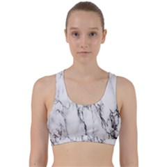 Marble Granite Pattern And Texture Back Weave Sports Bra