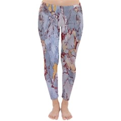 Marble Pattern Classic Winter Leggings