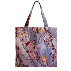 Marble Pattern Zipper Grocery Tote Bag