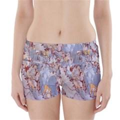 Marble Pattern Boyleg Bikini Wrap Bottoms