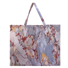 Marble Pattern Zipper Large Tote Bag
