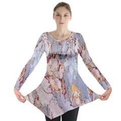 Marble Pattern Long Sleeve Tunic