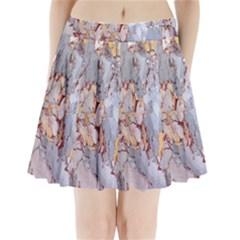 Marble Pattern Pleated Mini Skirt