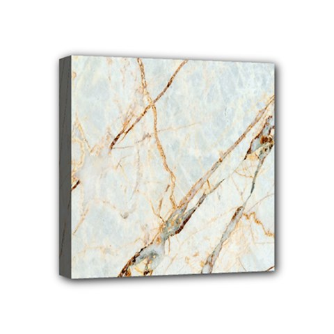 Marble Texture White Pattern Surface Effect Mini Canvas 4  X 4