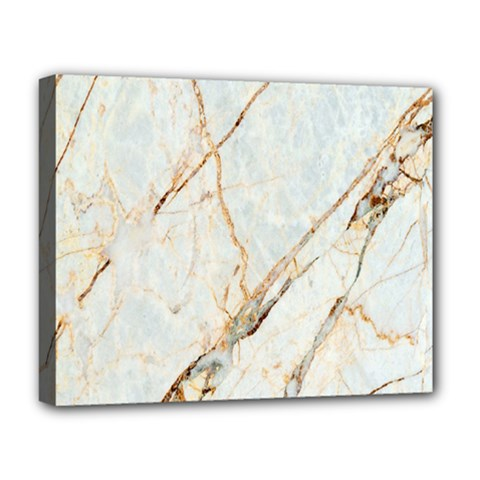 Marble Texture White Pattern Surface Effect Deluxe Canvas 20  X 16