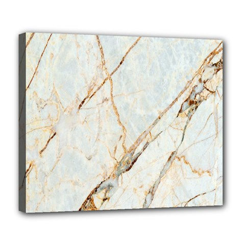 Marble Texture White Pattern Surface Effect Deluxe Canvas 24  X 20