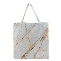 Marble Texture White Pattern Surface Effect Grocery Tote Bag