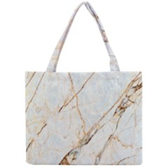 Marble Texture White Pattern Surface Effect Mini Tote Bag