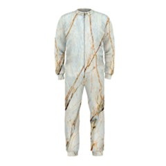 Marble Texture White Pattern Surface Effect Onepiece Jumpsuit (kids)