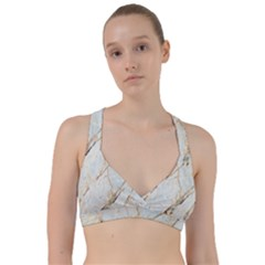 Marble Texture White Pattern Surface Effect Sweetheart Sports Bra