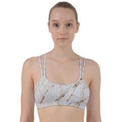 Marble Texture White Pattern Surface Effect Line Them Up Sports Bra