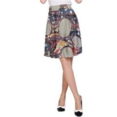 Marbling A Line Skirt