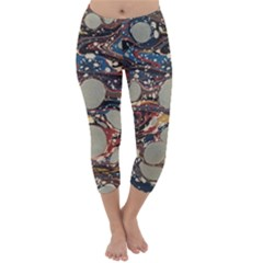 Marbling Capri Winter Leggings