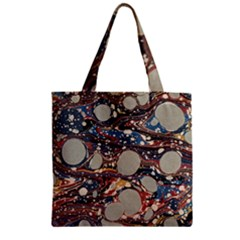 Marbling Zipper Grocery Tote Bag