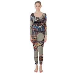 Marbling Long Sleeve Catsuit