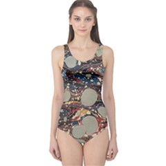 Marbling One Piece Swimsuit