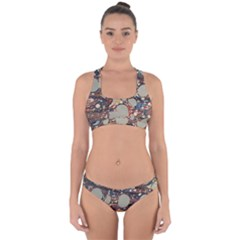 Marbling Cross Back Hipster Bikini Set