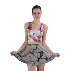 Slate Marble Texture Mini Skirt