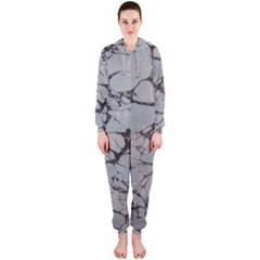 Slate Marble Texture Hooded Jumpsuit (ladies)