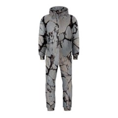 Slate Marble Texture Hooded Jumpsuit (kids)