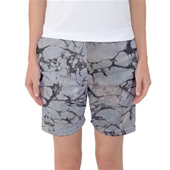 Slate Marble Texture Women s Basketball Shorts