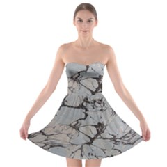 Slate Marble Texture Strapless Bra Top Dress