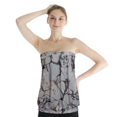 Slate Marble Texture Strapless Top