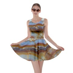 Wall Marble Pattern Texture Skater Dress