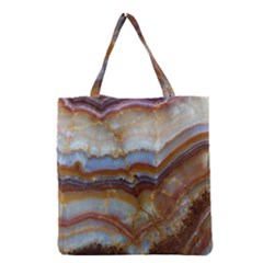 Wall Marble Pattern Texture Grocery Tote Bag