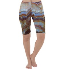 Wall Marble Pattern Texture Cropped Leggings