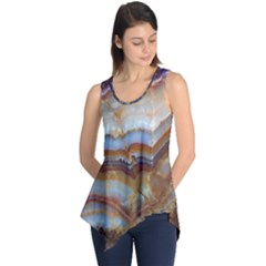 Wall Marble Pattern Texture Sleeveless Tunic