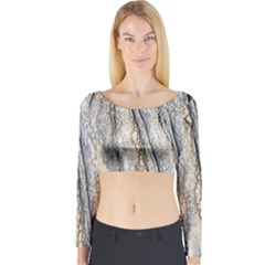 Texture Structure Marble Surface Background Long Sleeve Crop Top