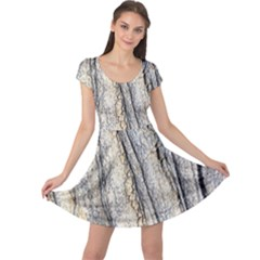 Texture Structure Marble Surface Background Cap Sleeve Dress