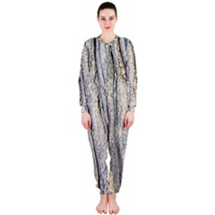 Texture Structure Marble Surface Background Onepiece Jumpsuit (ladies)