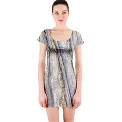 Texture Structure Marble Surface Background Short Sleeve Bodycon Dress